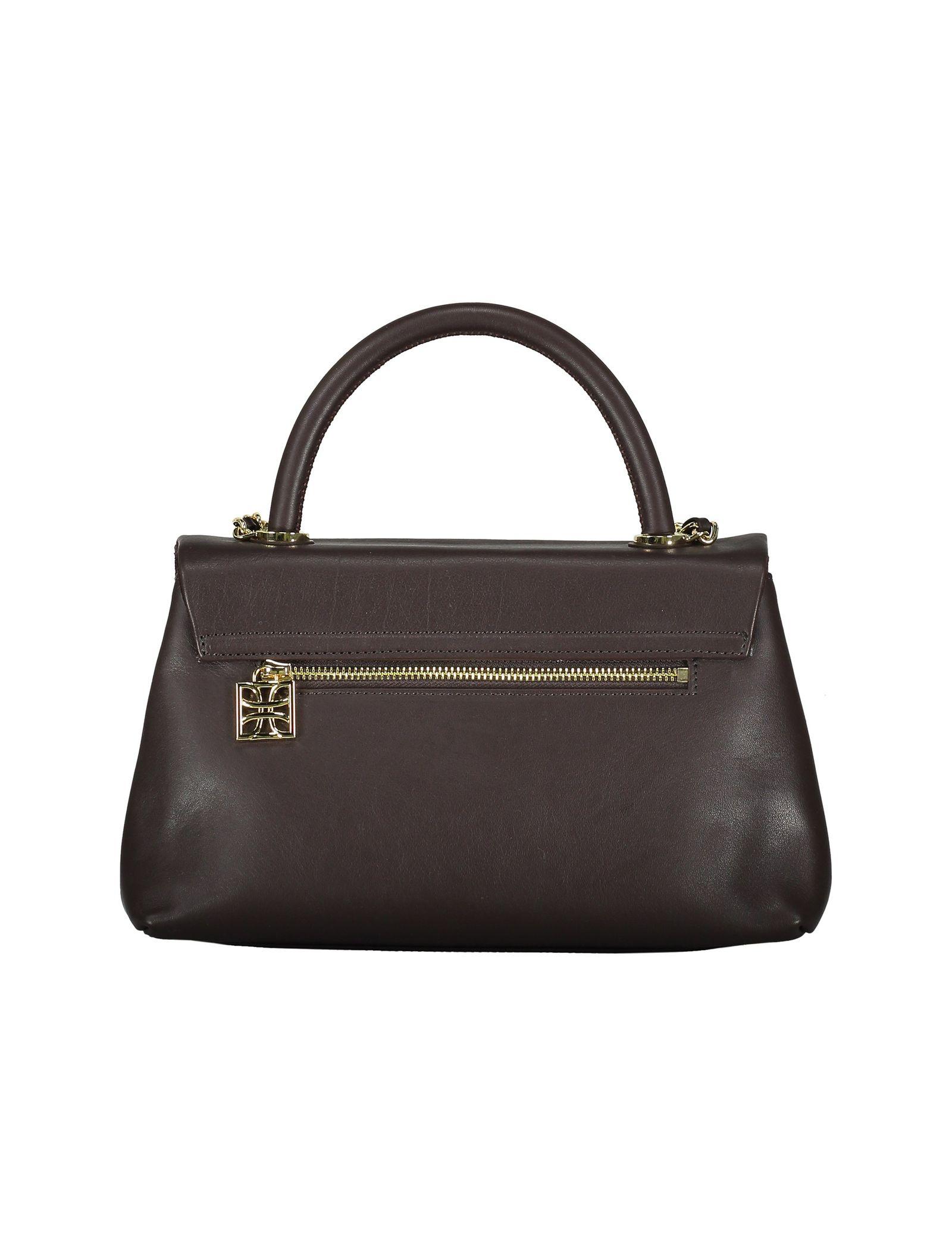 کیف دستی چرم روزمره زنانه - درسا - قهوه اي - 2