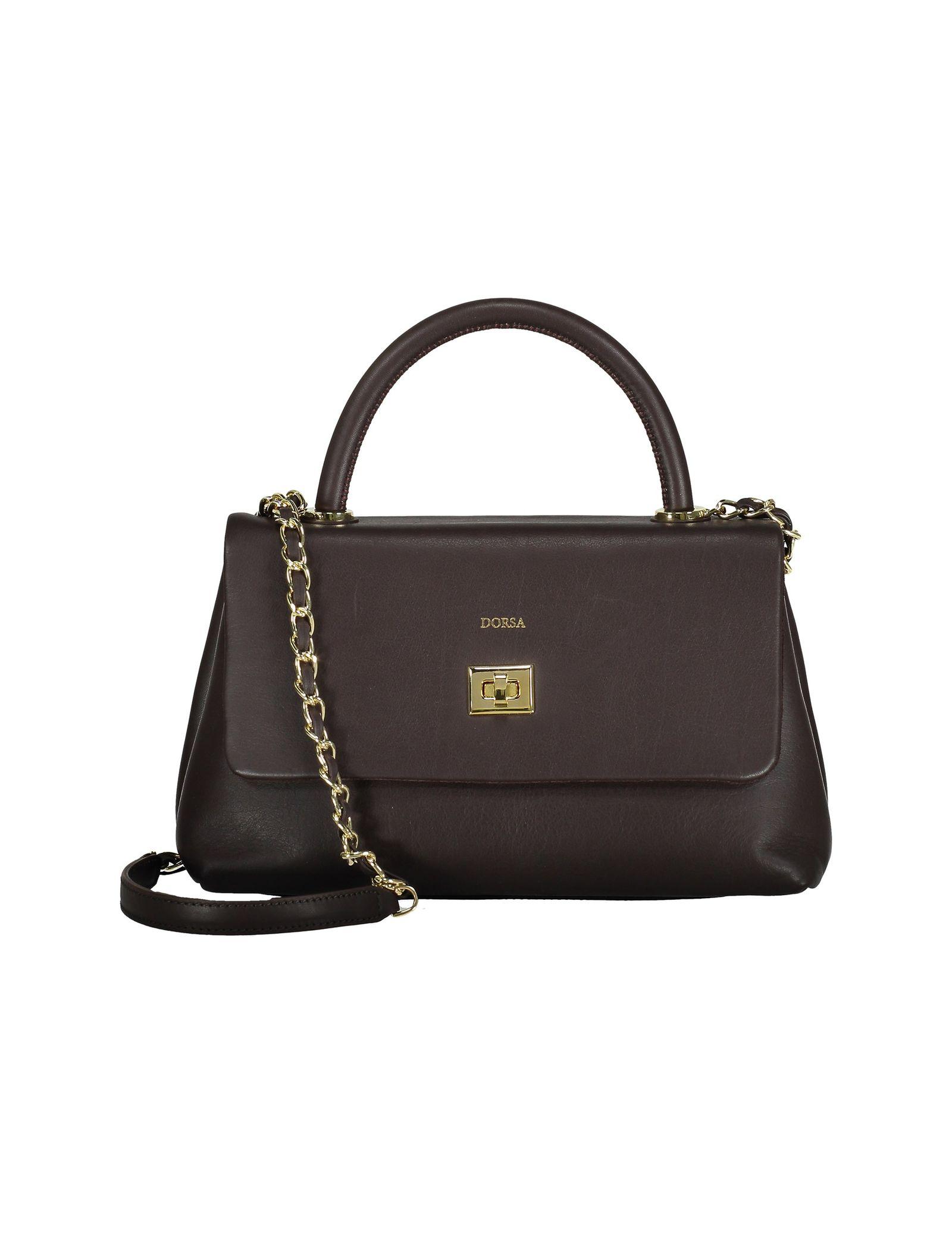 کیف دستی چرم روزمره زنانه - درسا - قهوه اي - 3