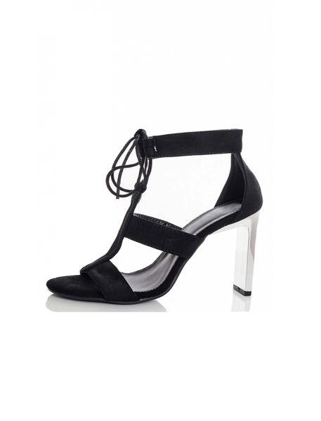 کفش پاشنه بلند زنانه - مشکي - 2