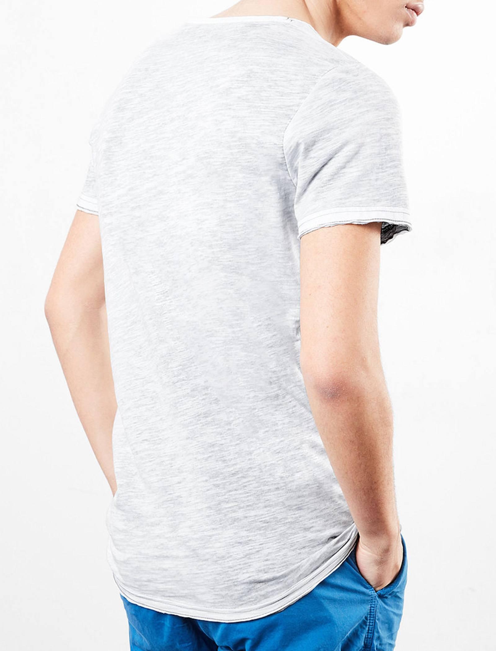تی شرت نخی یقه گرد مردانه - اس.اولیور - طوسي قرمز - 3