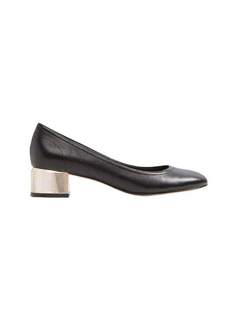 کفش پاشنه بلند چرم زنانه - مشکي - 1