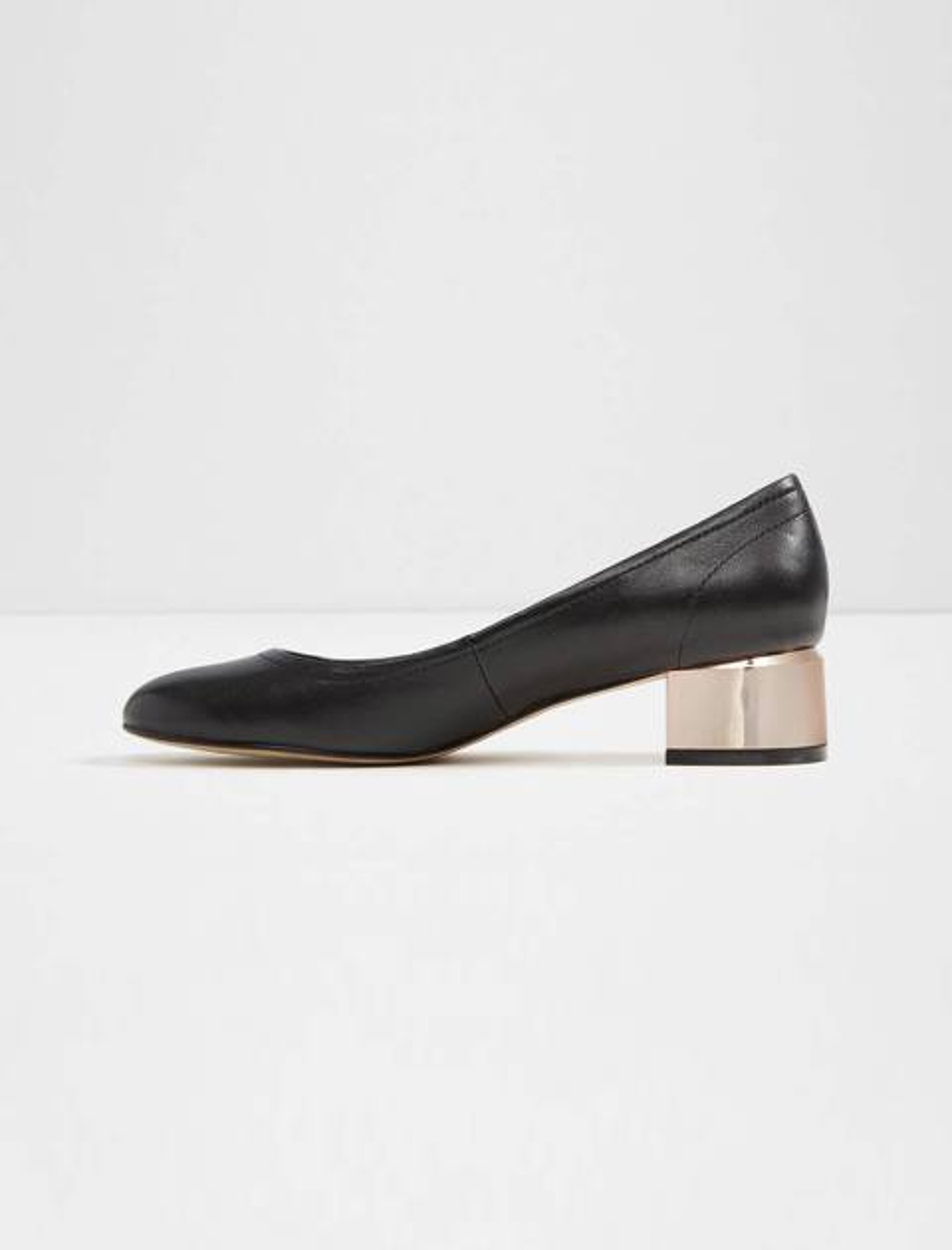 کفش پاشنه بلند چرم زنانه - مشکي - 2