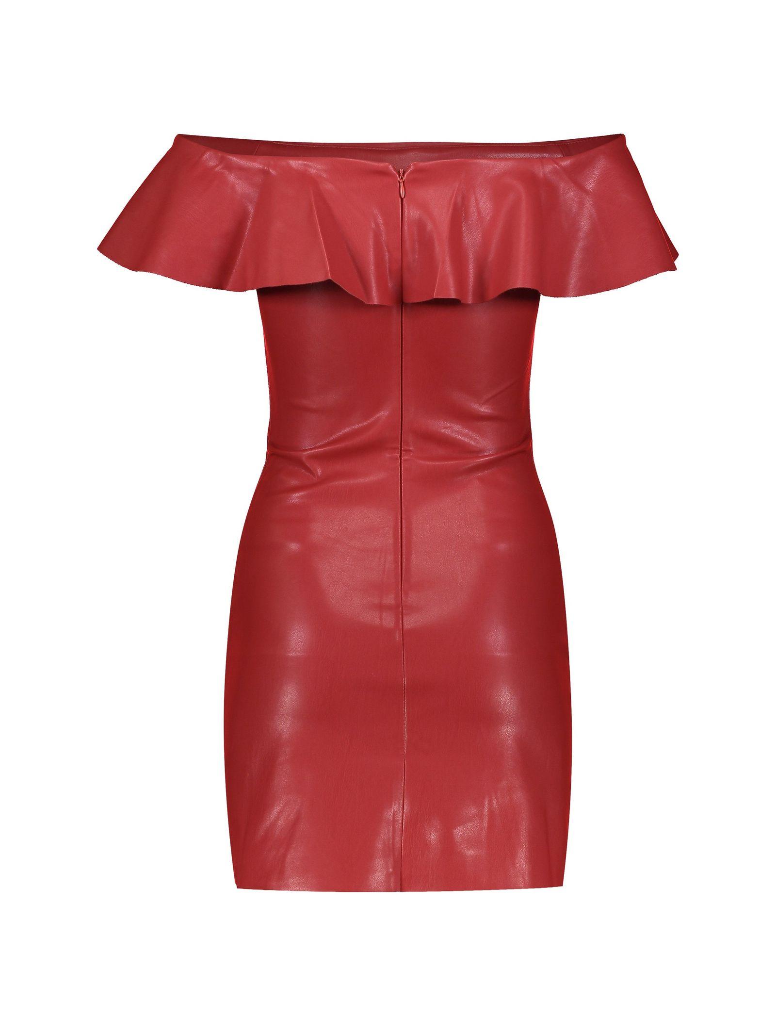 پیراهن کوتاه زنانه - مانگو - قرمز - 2