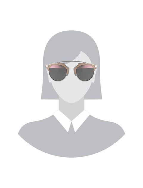 عینک آفتابی پنتوس زنانه - دیور - بژ و نقره اي - 5