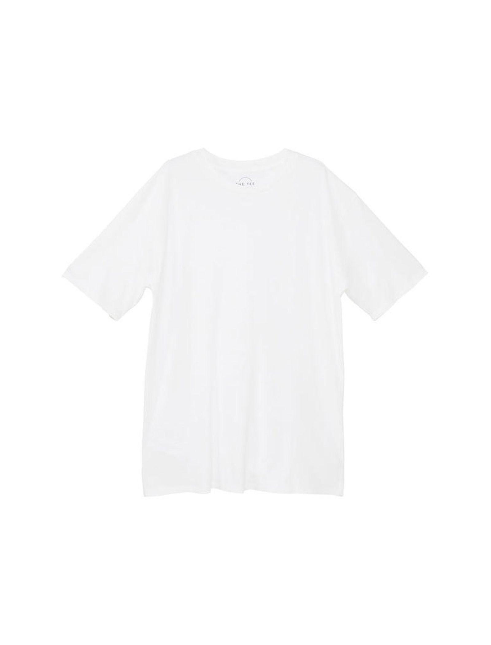 تی شرت نخی یقه گرد مردانه - مانگو - سفيد - 4