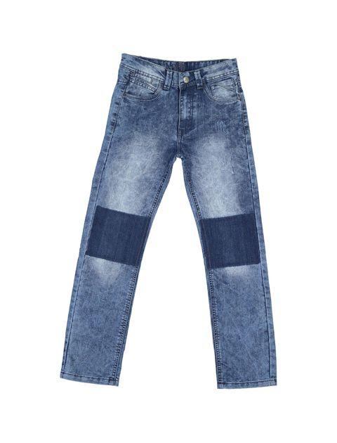 شلوار جین راسته پسرانه - آبي - 1