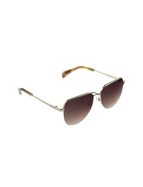 عینک آفتابی خلبانی زنانه - طلايي      - 2