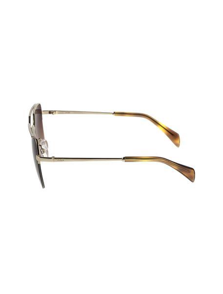 عینک آفتابی خلبانی زنانه - طلايي      - 3