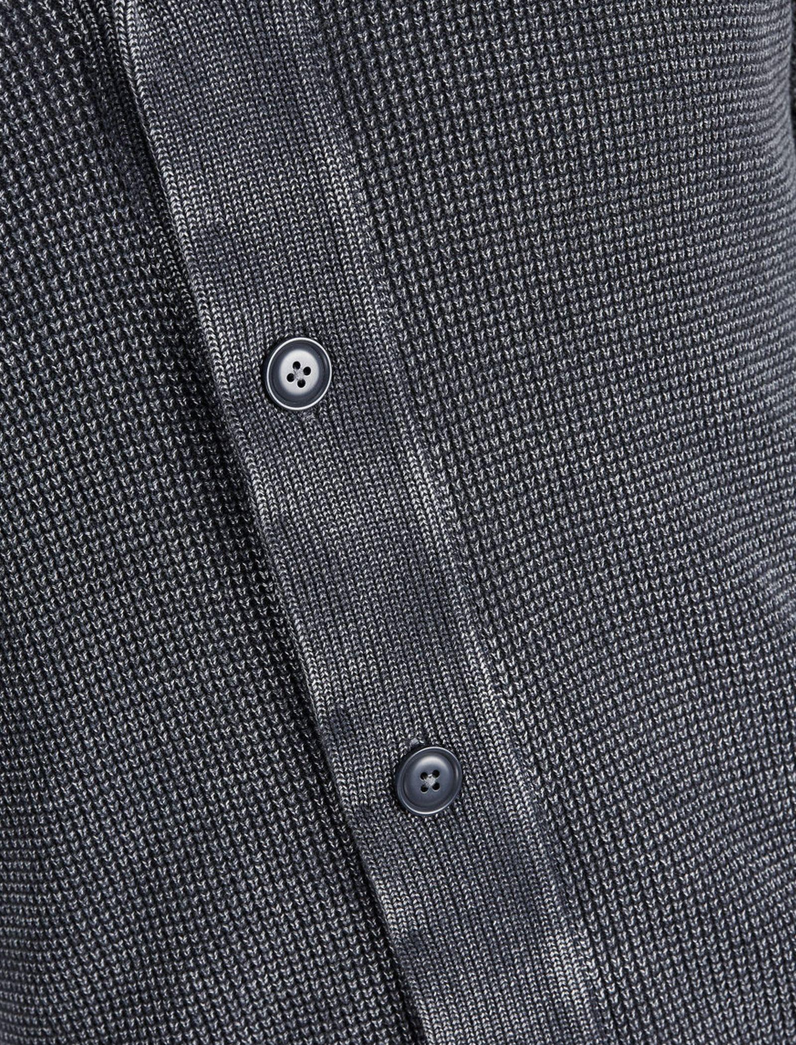 ژاکت نخی دکمه دار مردانه - جک اند جونز - آبي - 5