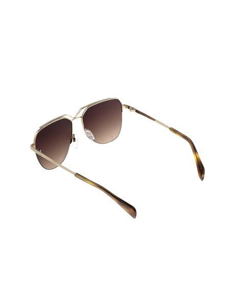 عینک آفتابی خلبانی زنانه - طلايي      - 4