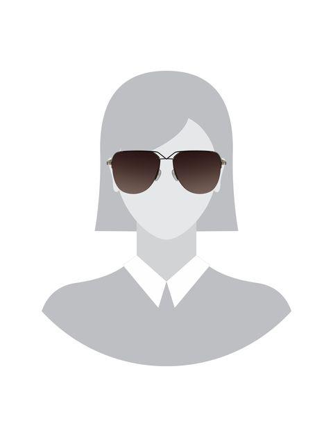 عینک آفتابی خلبانی زنانه - طلايي      - 5