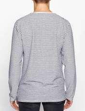 تی شرت یقه هفت مردانه - کوتون - سفيد و سرمه اي - 6