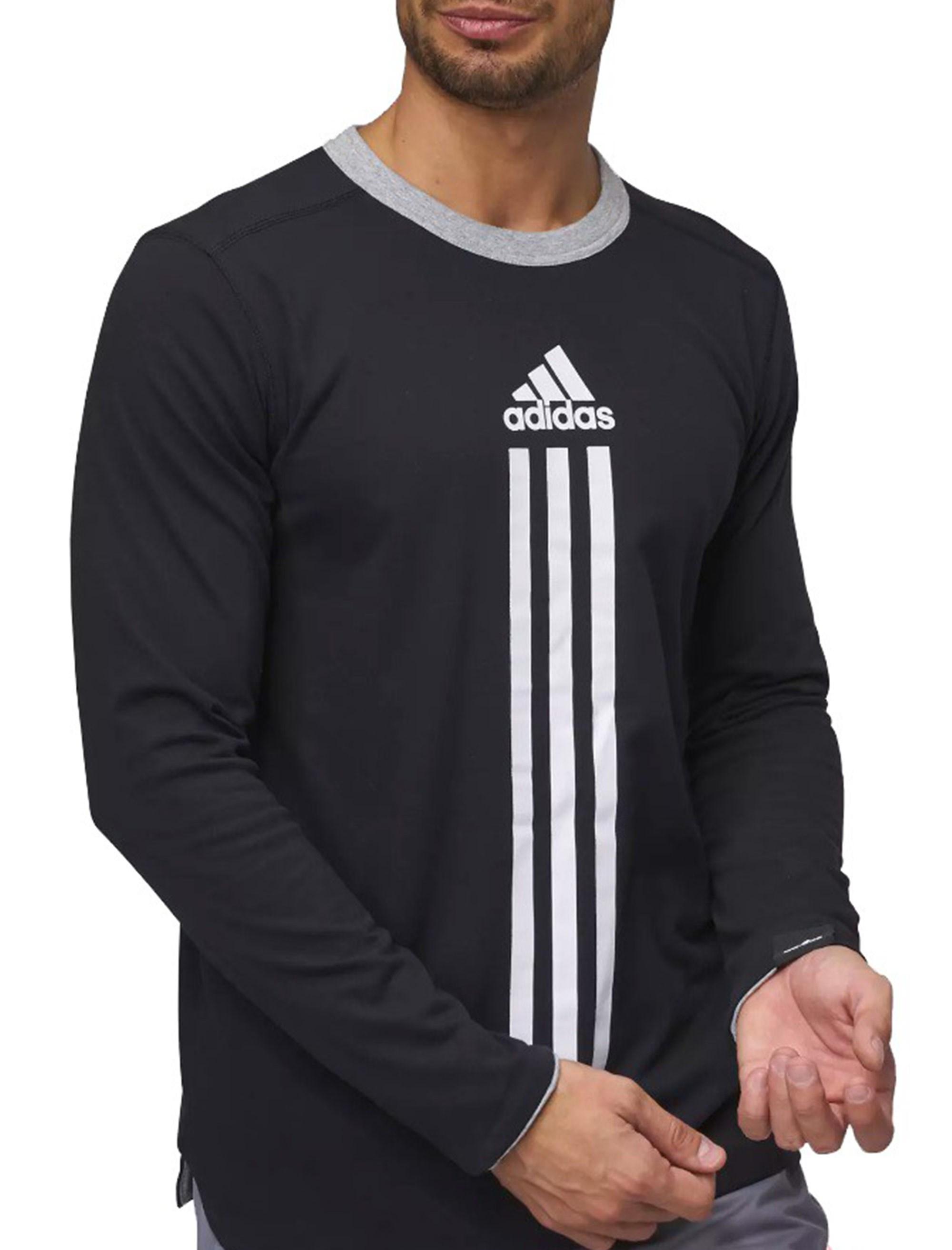 تی شرت نخی آستین بلند مردانه ID Reversible - آدیداس - مشکي - 1