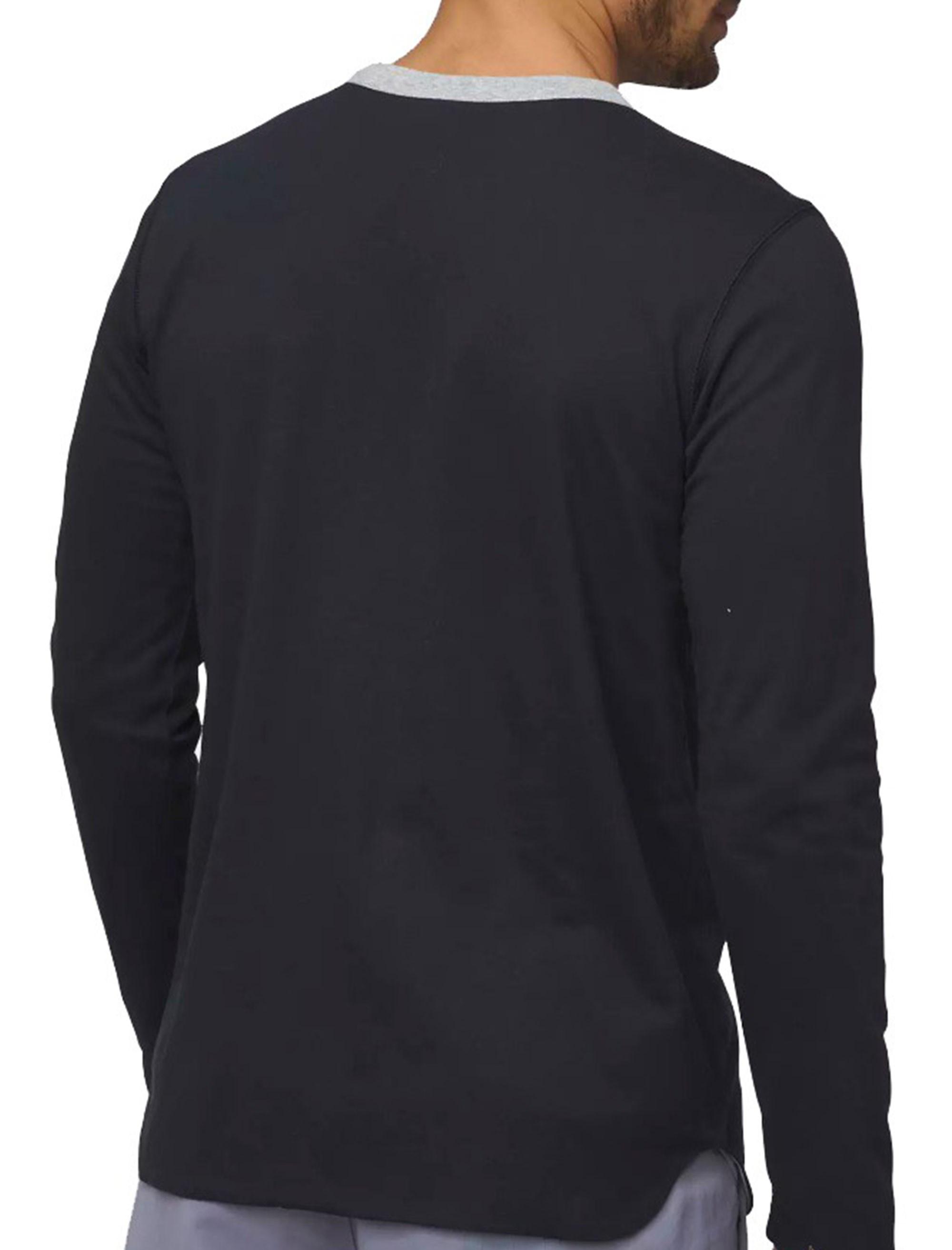 تی شرت نخی آستین بلند مردانه ID Reversible - آدیداس - مشکي - 2