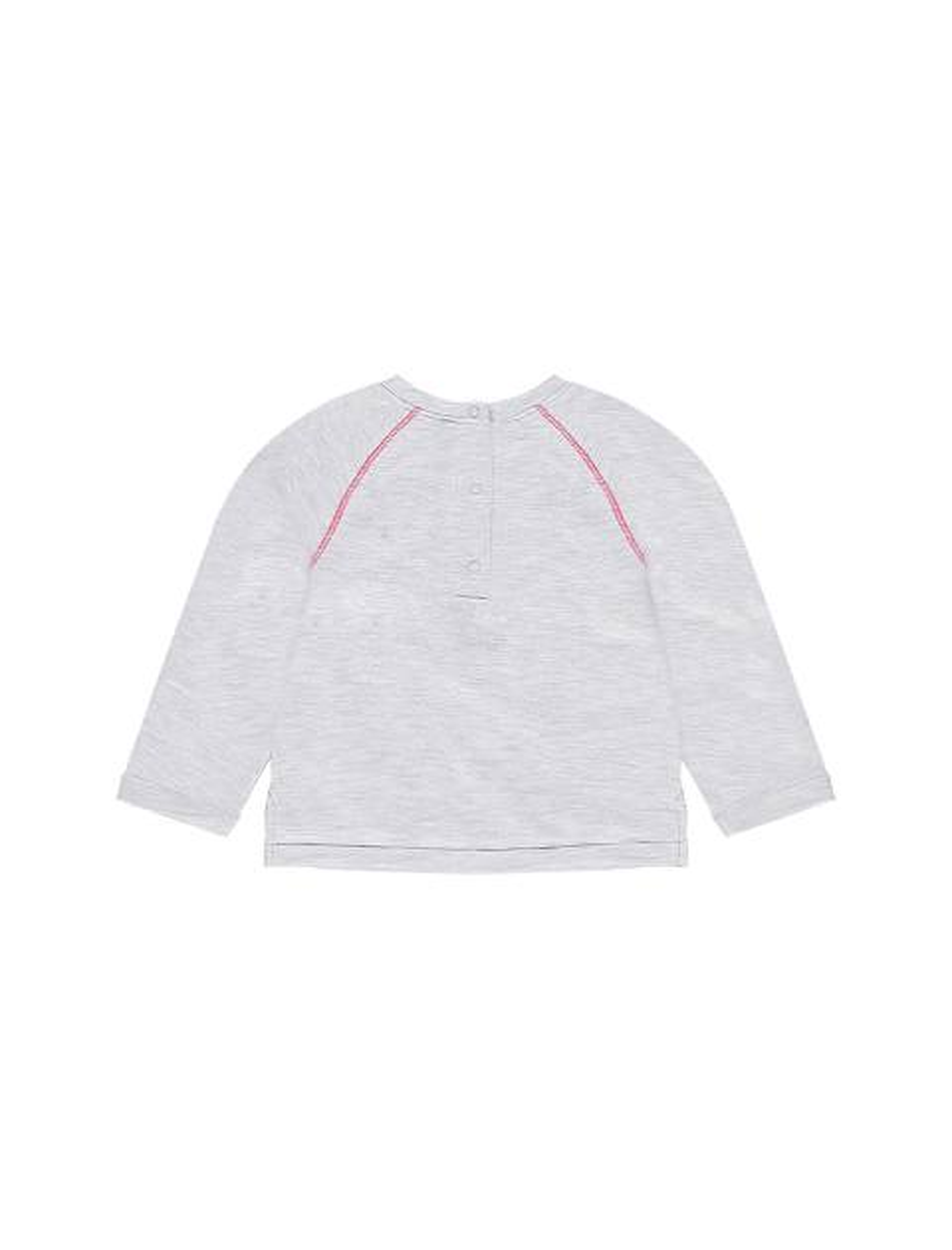 تی شرت نخی یقه گرد نوزادی دخترانه - ارکسترا - طوسي ملانژ - 2