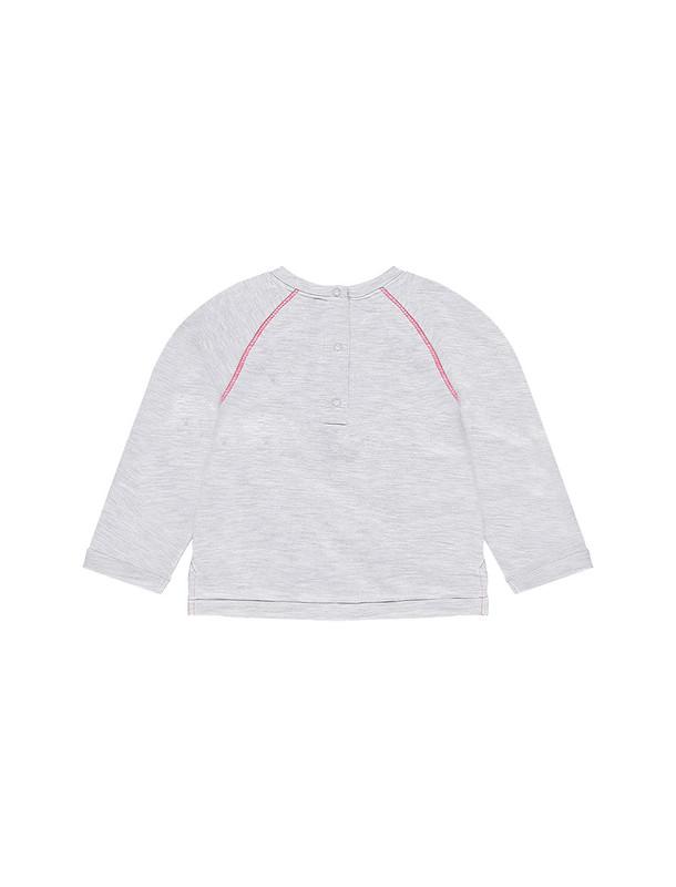 تی شرت نخی یقه گرد نوزادی دخترانه