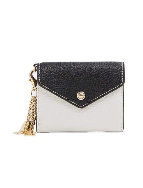 کیف پول دکمه دار زنانه - سفيد و مشکي - 1