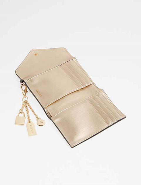 کیف پول دکمه دار زنانه - سفيد و مشکي - 2