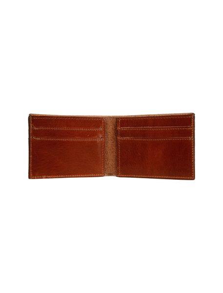 کیف پول چرم کتابی مردانه - عسلي - 3