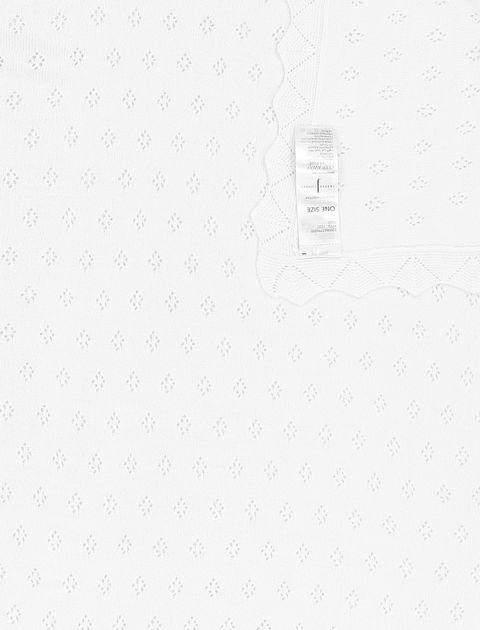 پتو طرح دار نوزادی - سفيد - 3