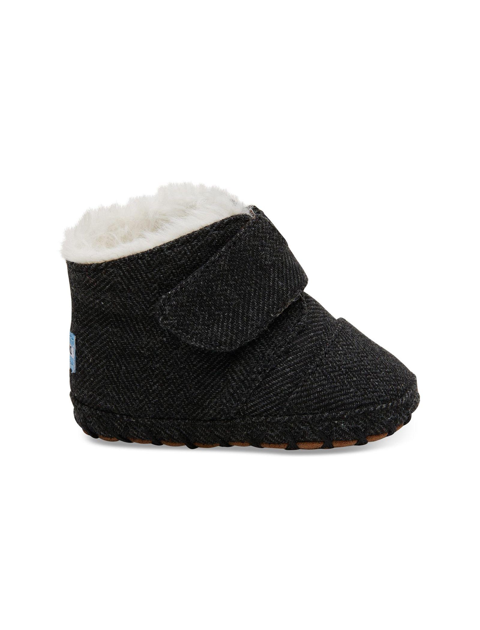 کفش پارچه ای چسبی نوزادی - تامز - مشکي - 1