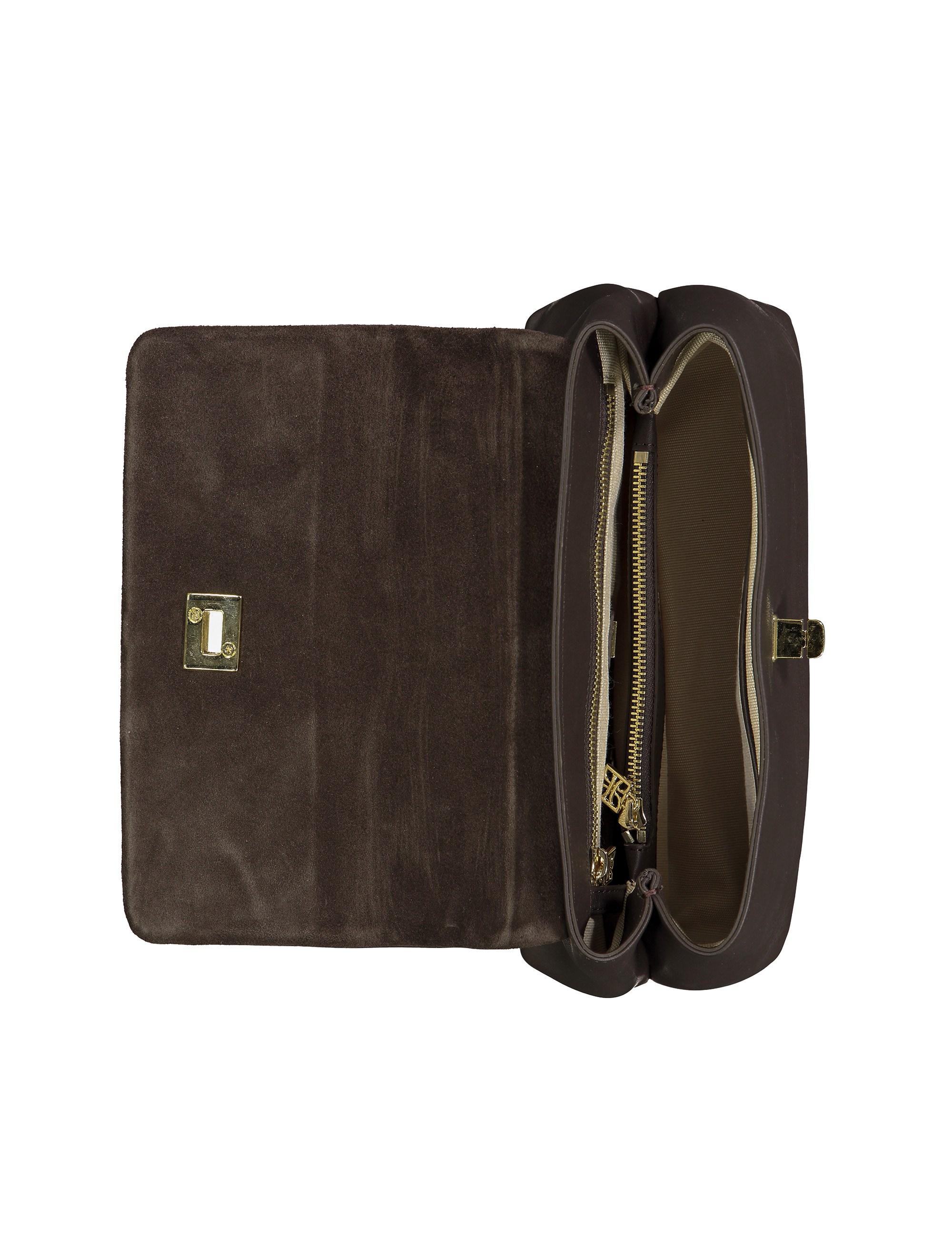 کیف دستی چرم روزمره زنانه - درسا - قهوه اي - 6