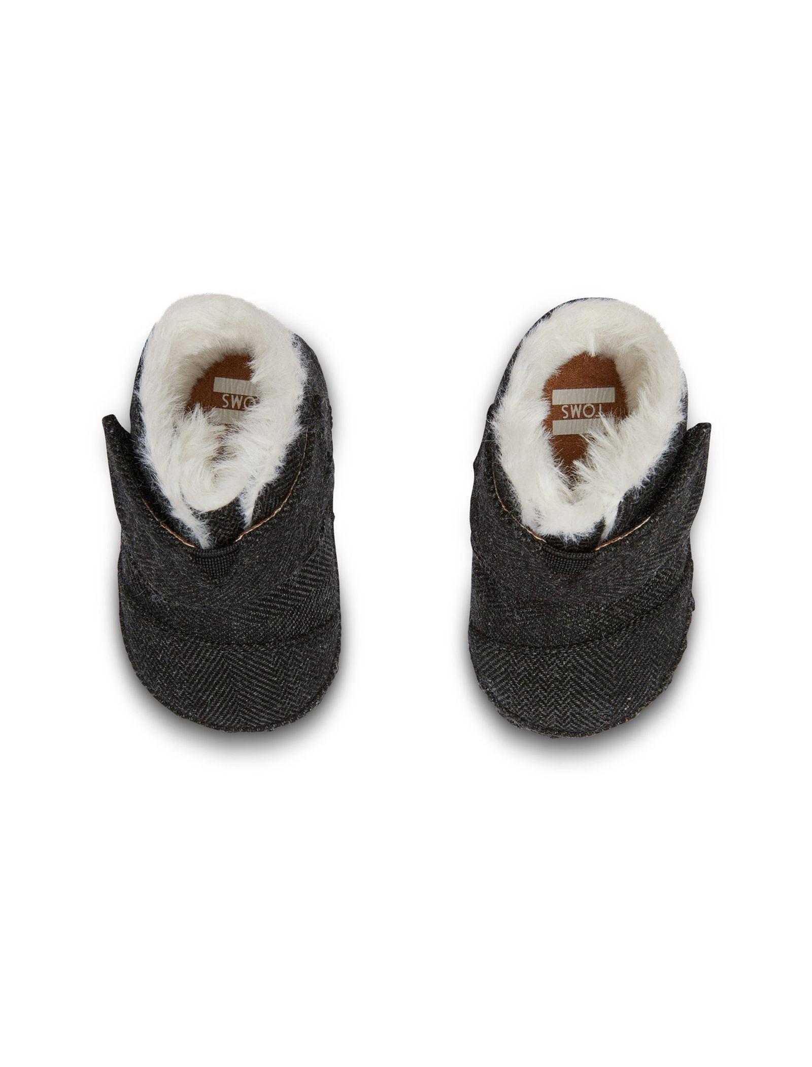کفش پارچه ای چسبی نوزادی - تامز - مشکي - 2