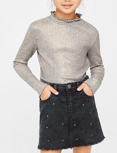 تی شرت نخی آستین بلند دخترانه - مانگو