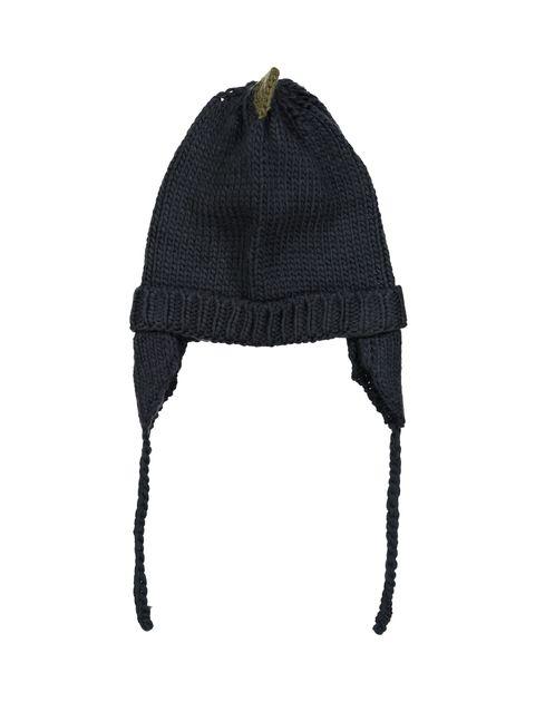 کلاه بافتنی پسرانه - سرمه اي - 1