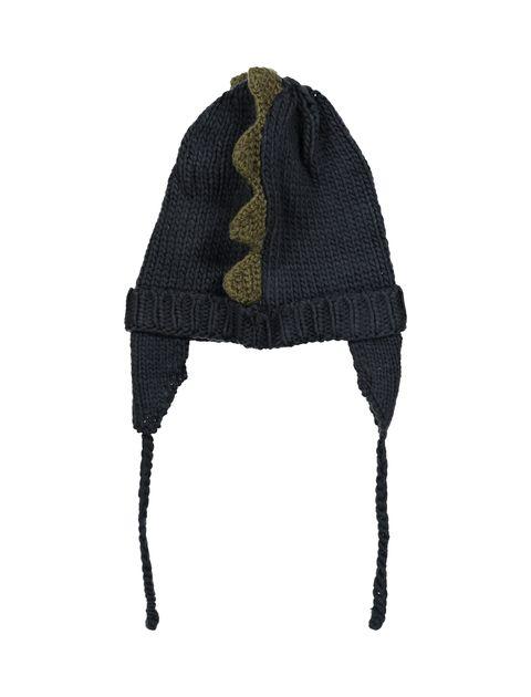 کلاه بافتنی پسرانه - سرمه اي - 2