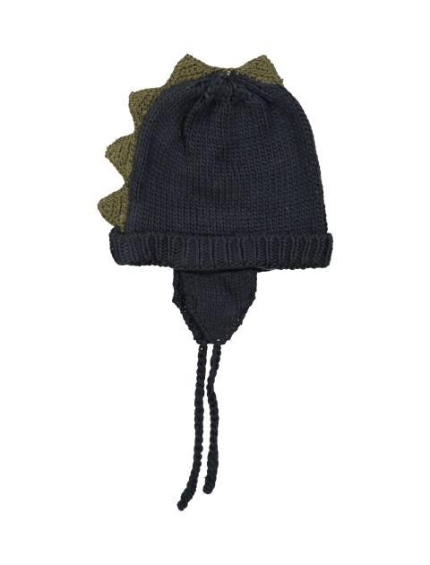 کلاه بافتنی پسرانه - سرمه اي - 3