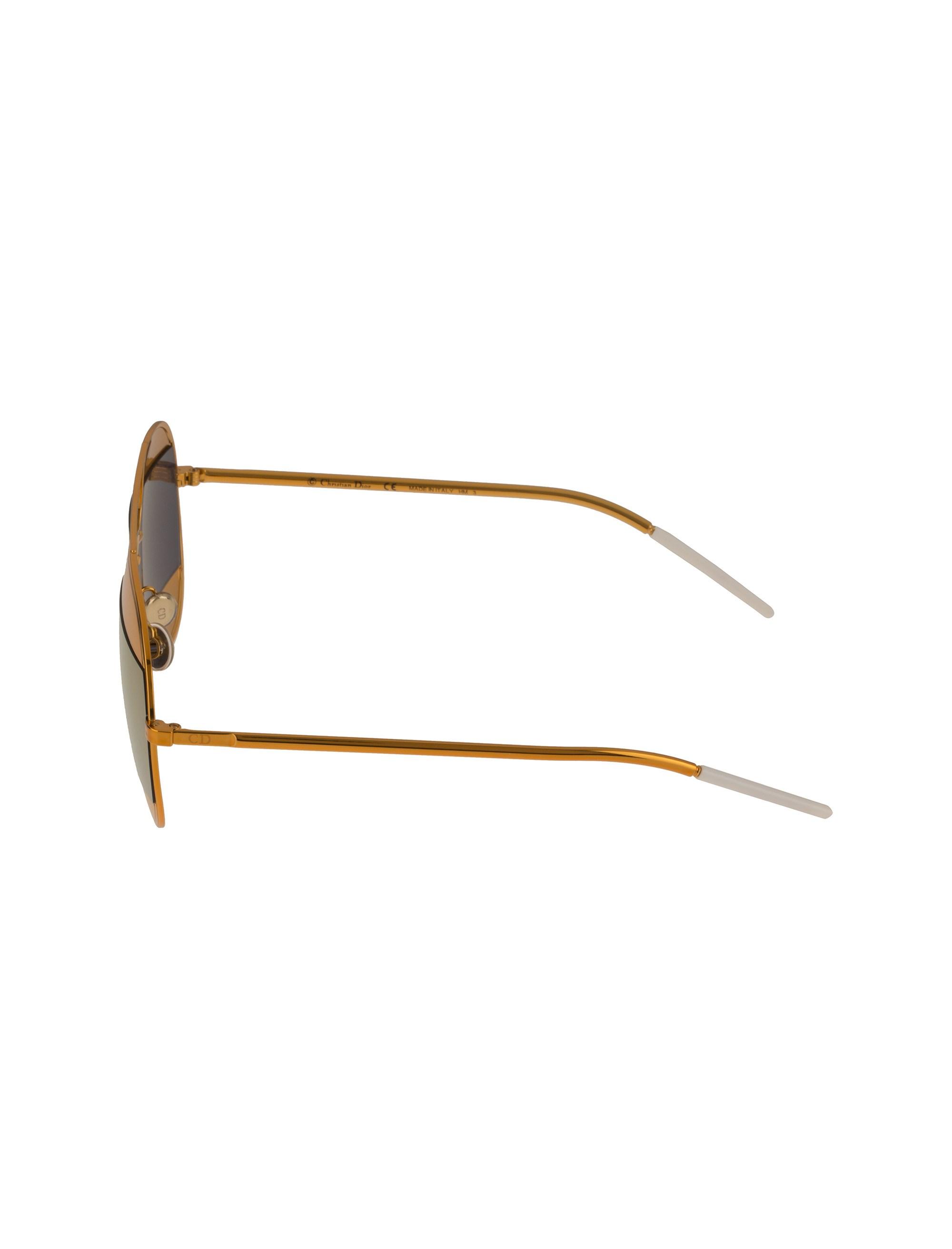 عینک آفتابی خلبانی زنانه - دیور - طلايي  - 3