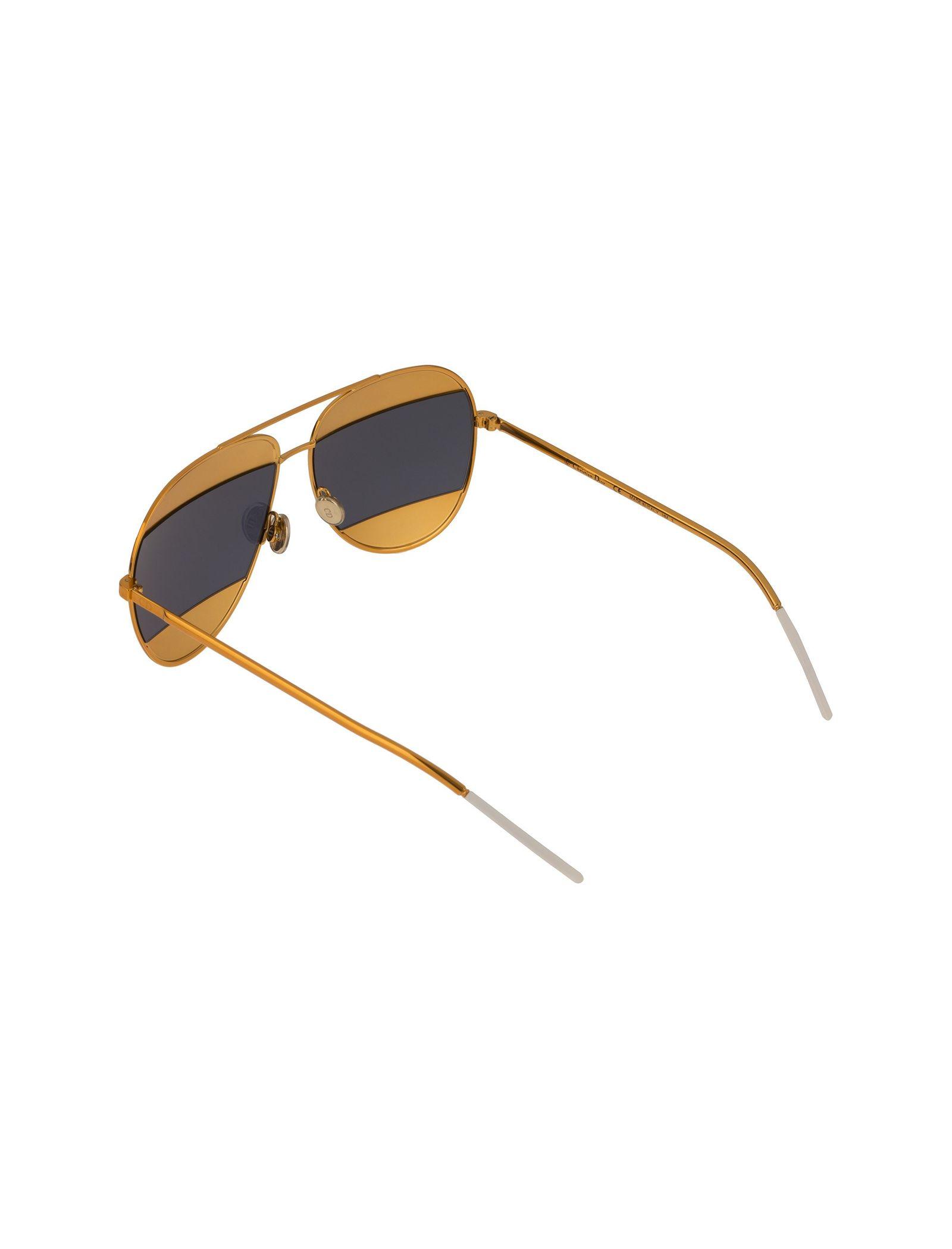 عینک آفتابی خلبانی زنانه - دیور - طلايي  - 4