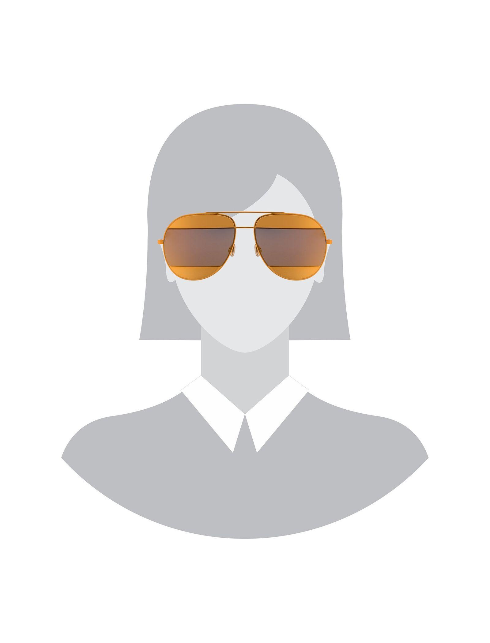 عینک آفتابی خلبانی زنانه - دیور - طلايي  - 5