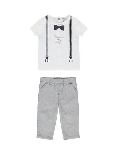 تی شرت و شلوار نخی نوزادی پسرانه