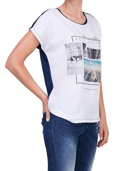 تی شرت یقه گرد زنانه - سفيد - 2