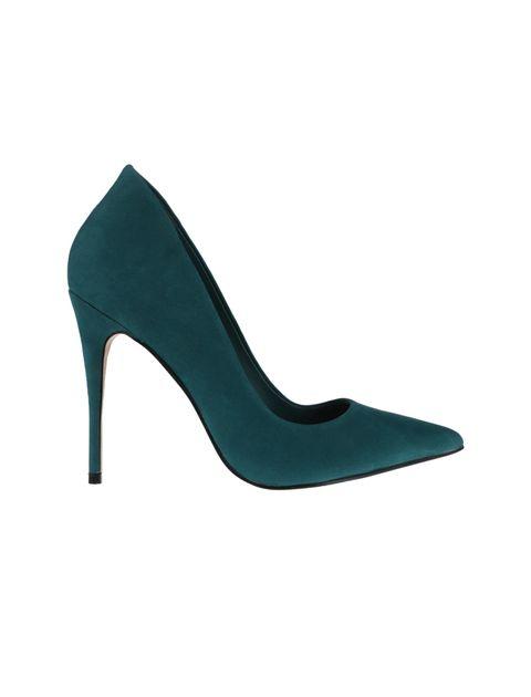 کفش پاشنه بلند چرم زنانه - سبز - 1