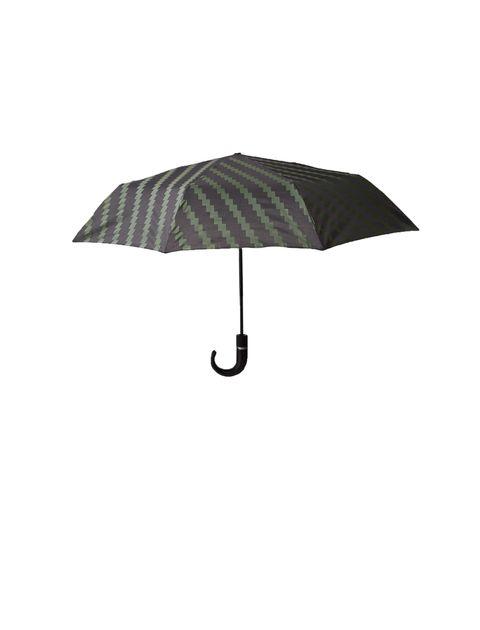 چتر تاشو مردانه - مشکي و سبز - 1