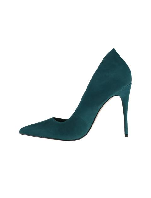 کفش پاشنه بلند چرم زنانه - سبز - 3