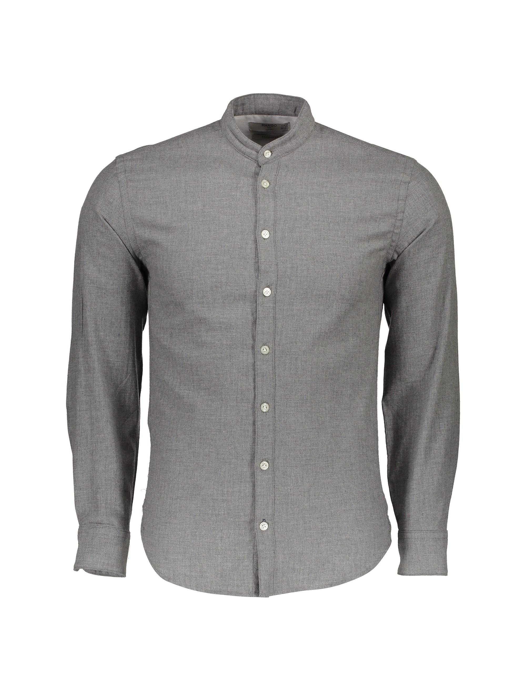 پیراهن نخی آستین بلند مردانه