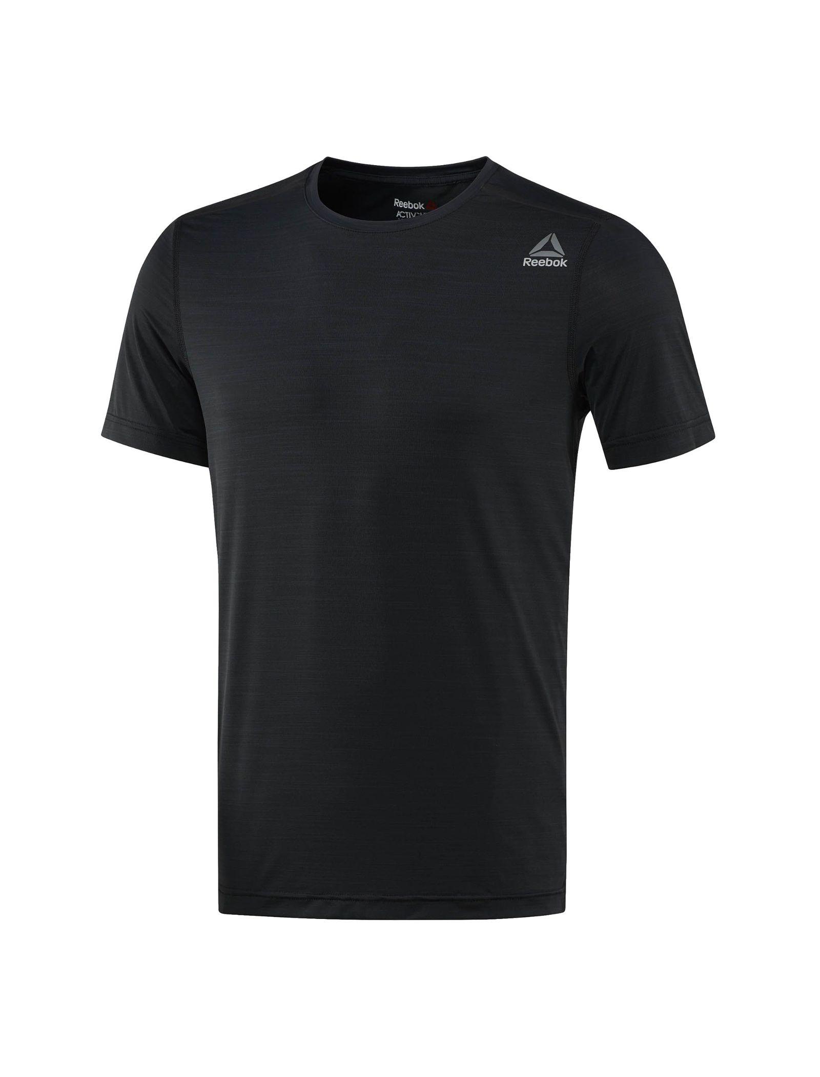 تی شرت ورزشی یقه گرد مردانه ACTIVCHILL - ریباک - مشکي - 1