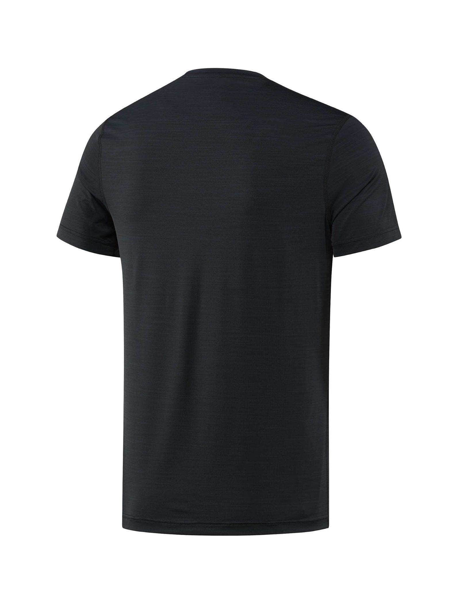 تی شرت ورزشی یقه گرد مردانه ACTIVCHILL - ریباک - مشکي - 2