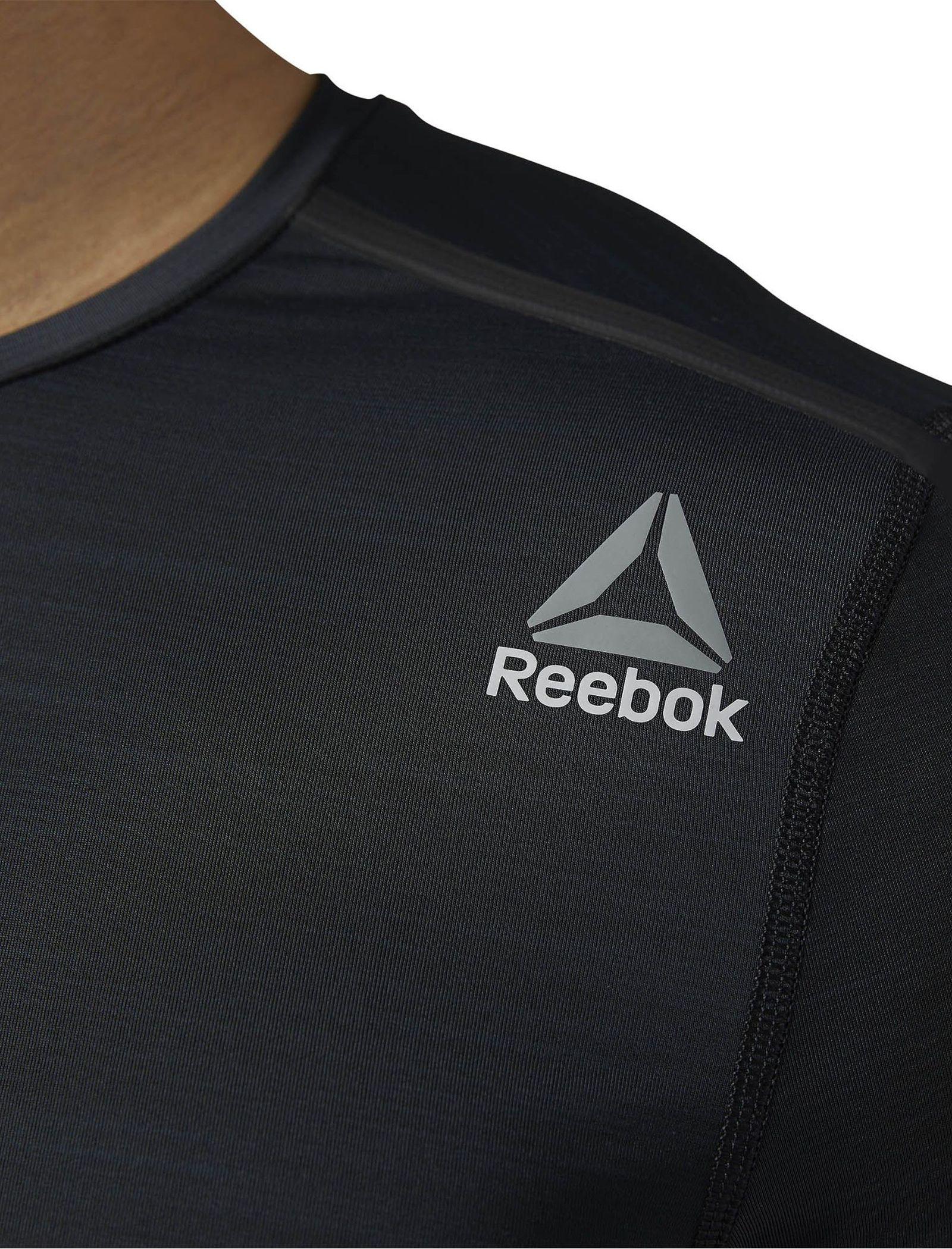 تی شرت ورزشی یقه گرد مردانه ACTIVCHILL - ریباک - مشکي - 3