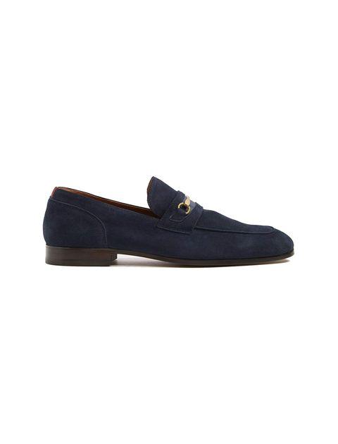 کفش اداری جیر مردانه - سرمه اي - 1