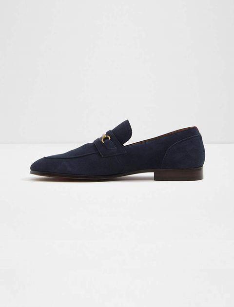 کفش اداری جیر مردانه - سرمه اي - 2