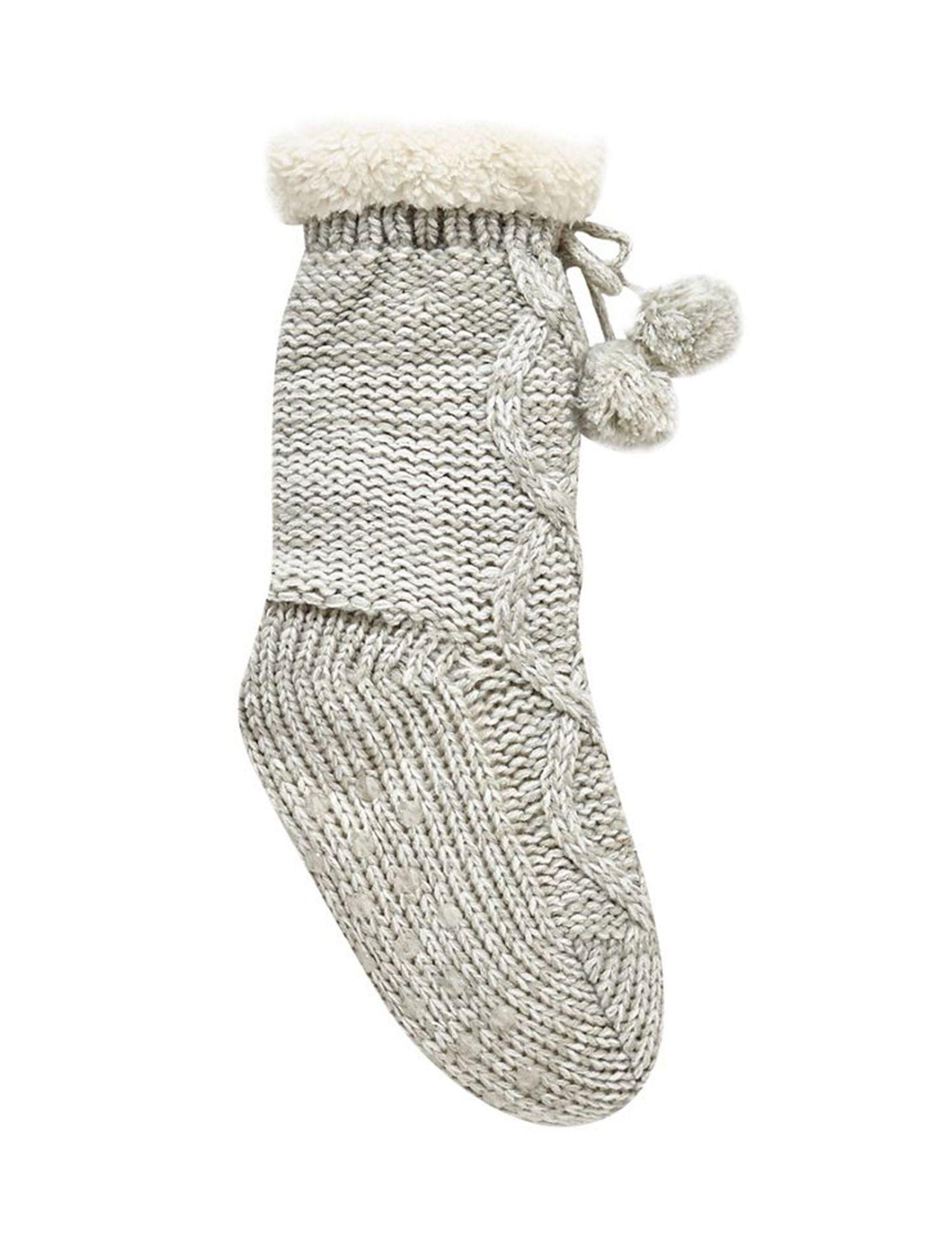 جوراب طرح دار دخترانه - بلوزو - طوسي - 1