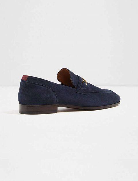کفش اداری جیر مردانه - سرمه اي - 3