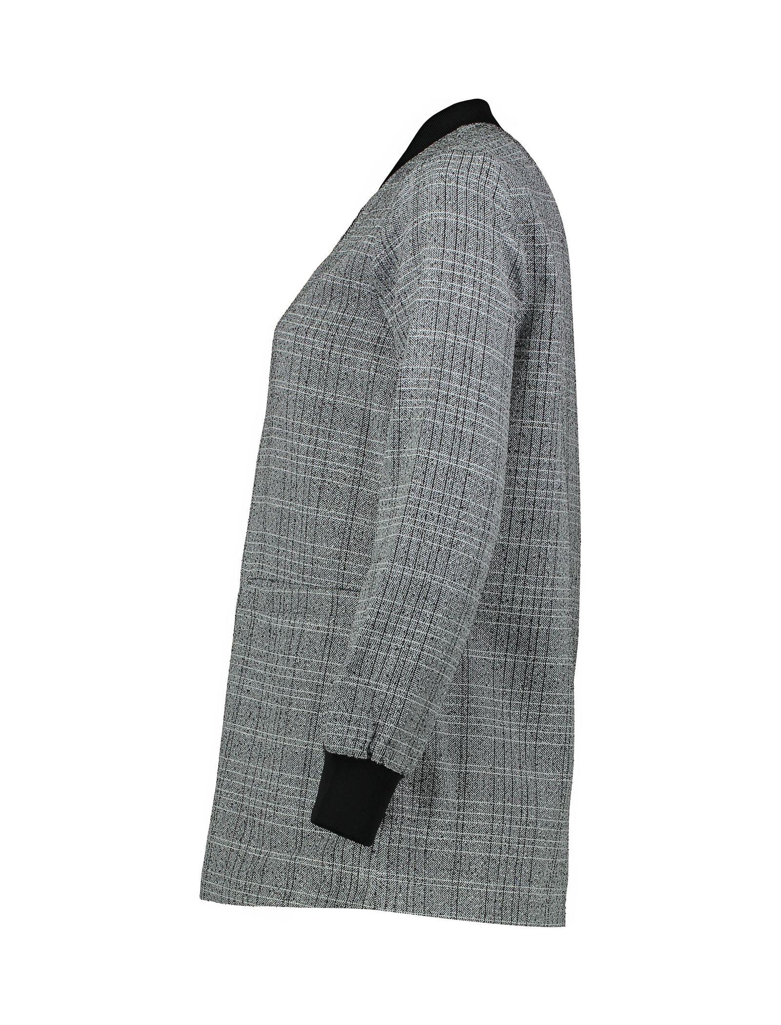 کت ویسکوز بلند زنانه - کوتون - طوسي - 3