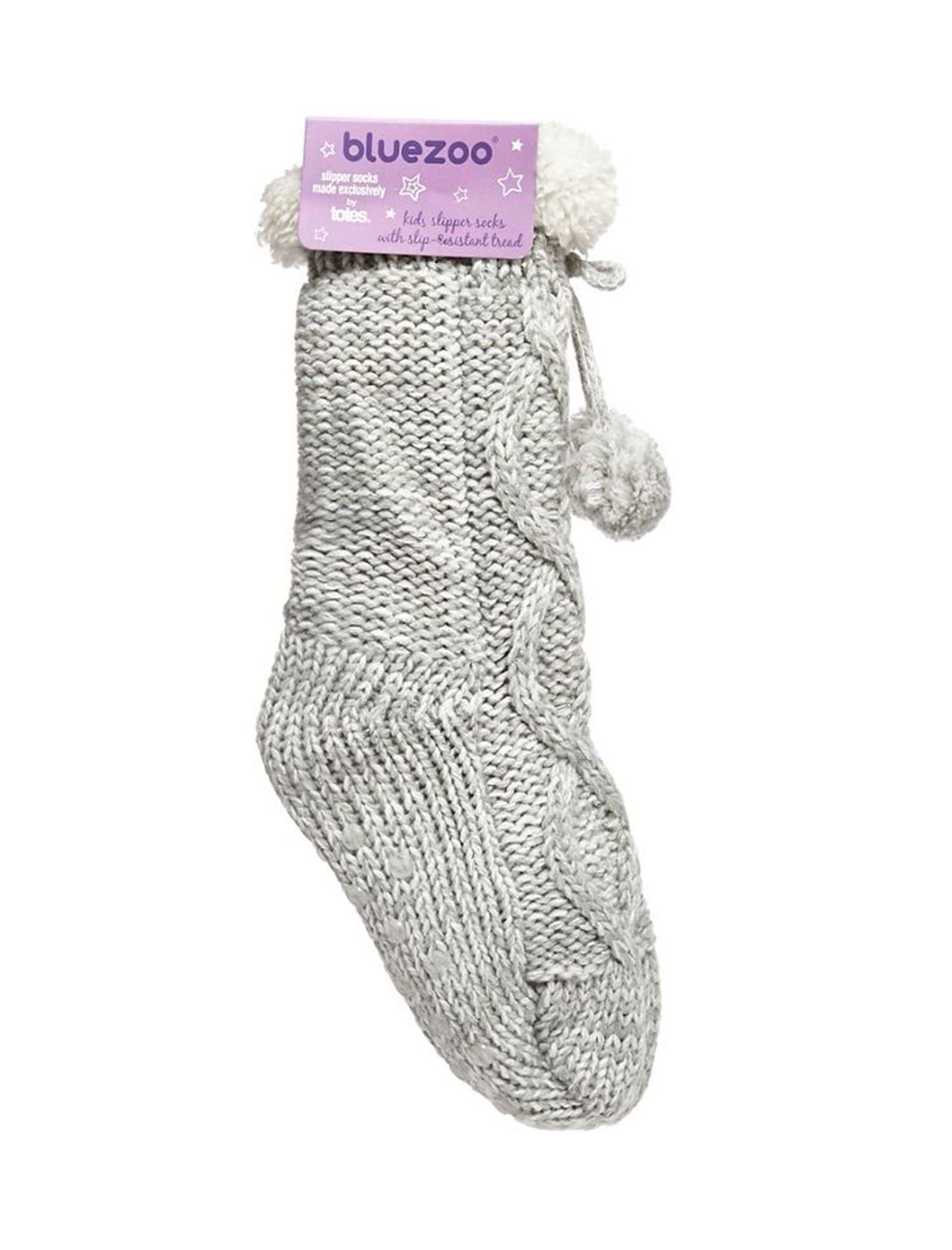 جوراب طرح دار دخترانه - بلوزو - طوسي - 2