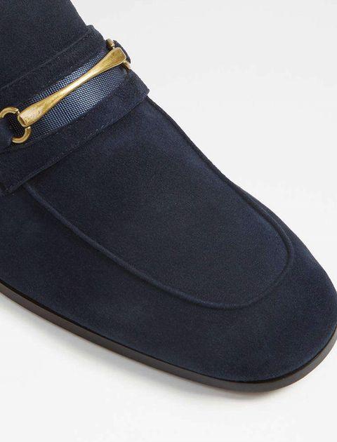 کفش اداری جیر مردانه - سرمه اي - 4